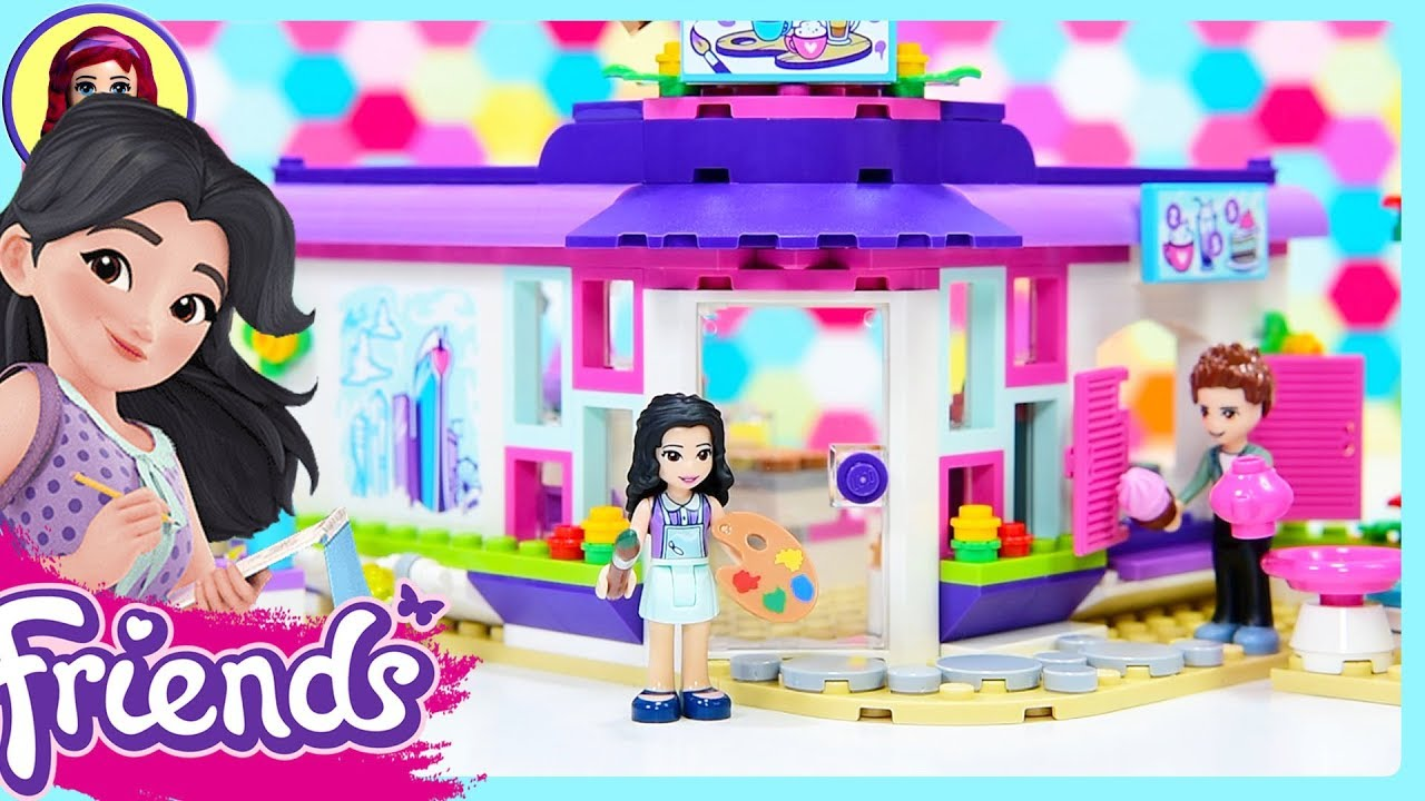 79eee677d42 Lego Friends Emma's Art Cafe Build Silly Play Review Kids Toys - YouTube