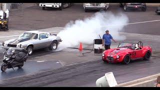 10 Second 1979 Camaro vs Factory Five Cobra Drag Race