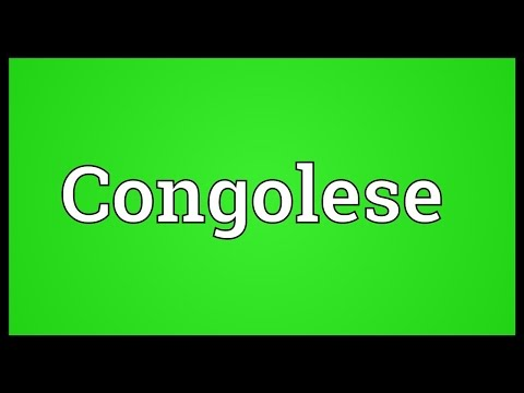 Congolese Meaning