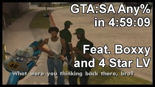 GTA:SA Any% in 4:59:09 Feat. Boxxy and 4 Star LV