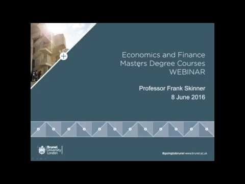 MSc Economics & Finance Degrees | June 2016
