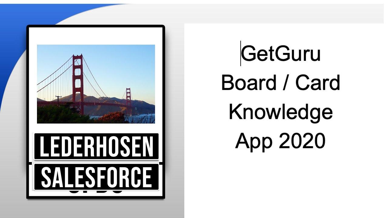 Remote GetGuru Knowledge Sharing Tool Review & Design 2020