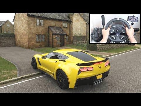 Forza Horizon 4 Chevrolet Corvette Z06 (Steering Wheel + Shifter) Gameplay