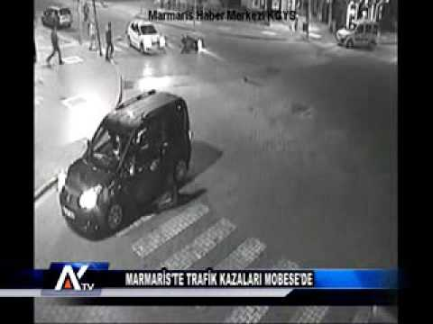 AYTV AYDIN-Marmaris'te Trafik Kazaları MOBESE'de