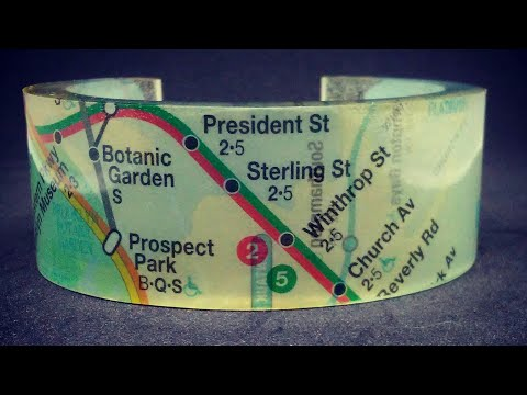 Tutorial: Resin Bracelet Subway Map Cuff