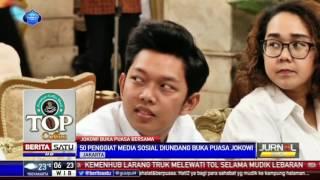 Jokowi Undang 50 Vloger dan Bloger Bukber