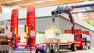 Rc Truck loading Crane! Palfinger crane! MAN! Scania! MB Arocs!