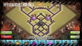 Clash of Clans TH 9 | HDV 9 Hybride / Troll base ( 2 AIR SWEEPER )