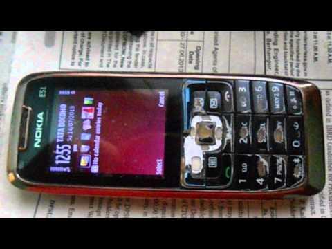 Nokia E51 funny Charging