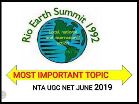 Rio summit paper 1 nta Ugc Net June 2019 exam