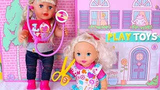 Baby Doll Doctor toys * play baby doll doctor check up clinic doctor kit w/ Baby Born dolls