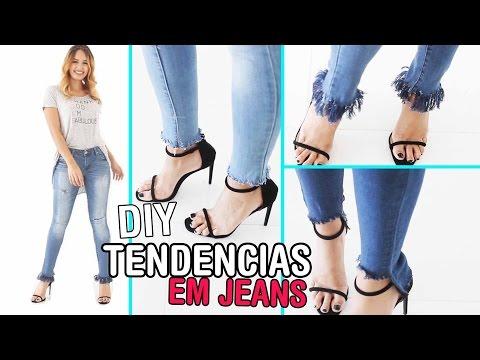 DIY Faça você mesmo: Calça jeans con franjas | tendencia 2017