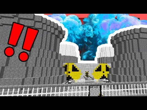 NUCLEAR REACTOR MELTDOWN IN MINECRAFT (100 CHUNK EXPLOSION)