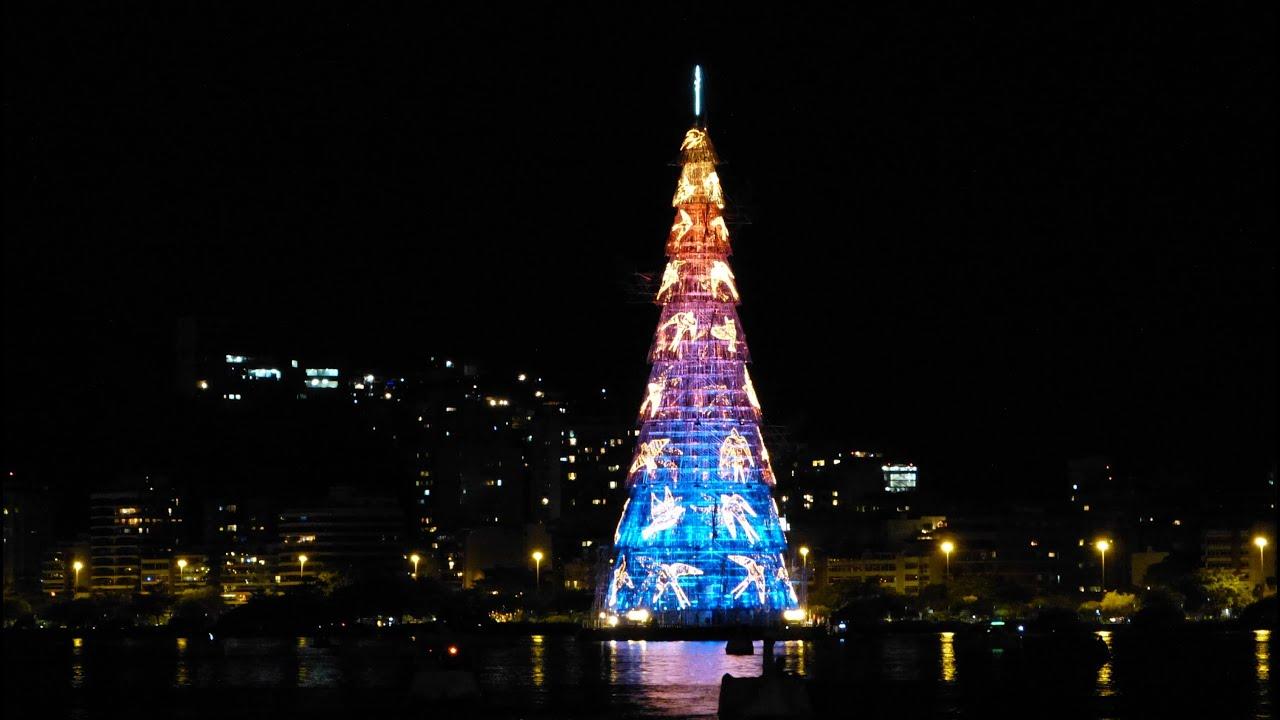 Rio de Janeiro Christmas tree at night - YouTube