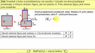 Egzamin Ósmoklasisty 2019 - Zadanie 10. Pole i obwód prostokąta   MatFiz24.PL