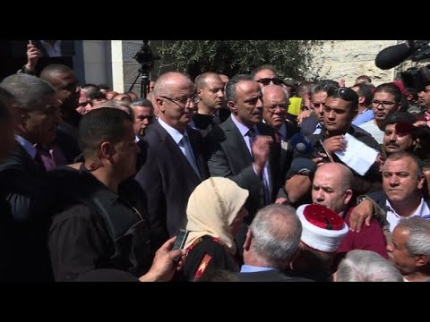 Palestinian PM gives presser after surviving convoy attack