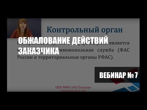 """Вебинар """"Обжалование действий заказчика"""""""