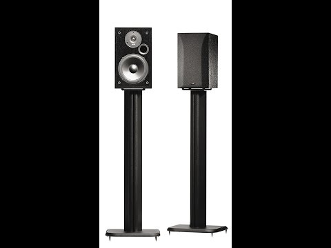 Sanus BF-31B Wood Speaker Stands(mdf plastic)