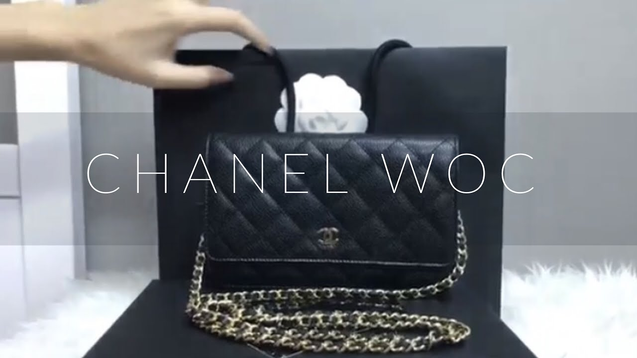 112759ef6231 Unboxing & Review กระเป๋า Chanel WOC ใบใหม่แกะกล่อง - YouTube