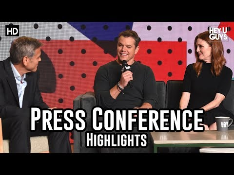 Suburbicon Press Conference Highlights  George Clooney  Matt Damon  Julianne Moore  TIFF 2017