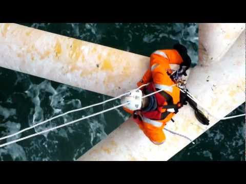 1719 sca rope access offshore windfarm paint inspection.MOV