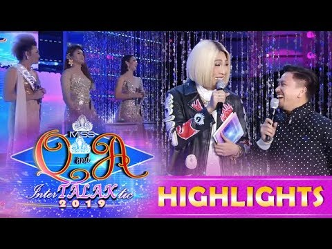 It's Showtime Miss Q and A: Vice and Jhong make fun of Miss Q and A InterTALAKtic 2019 candidates