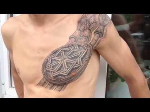 тату воина славянская боевая