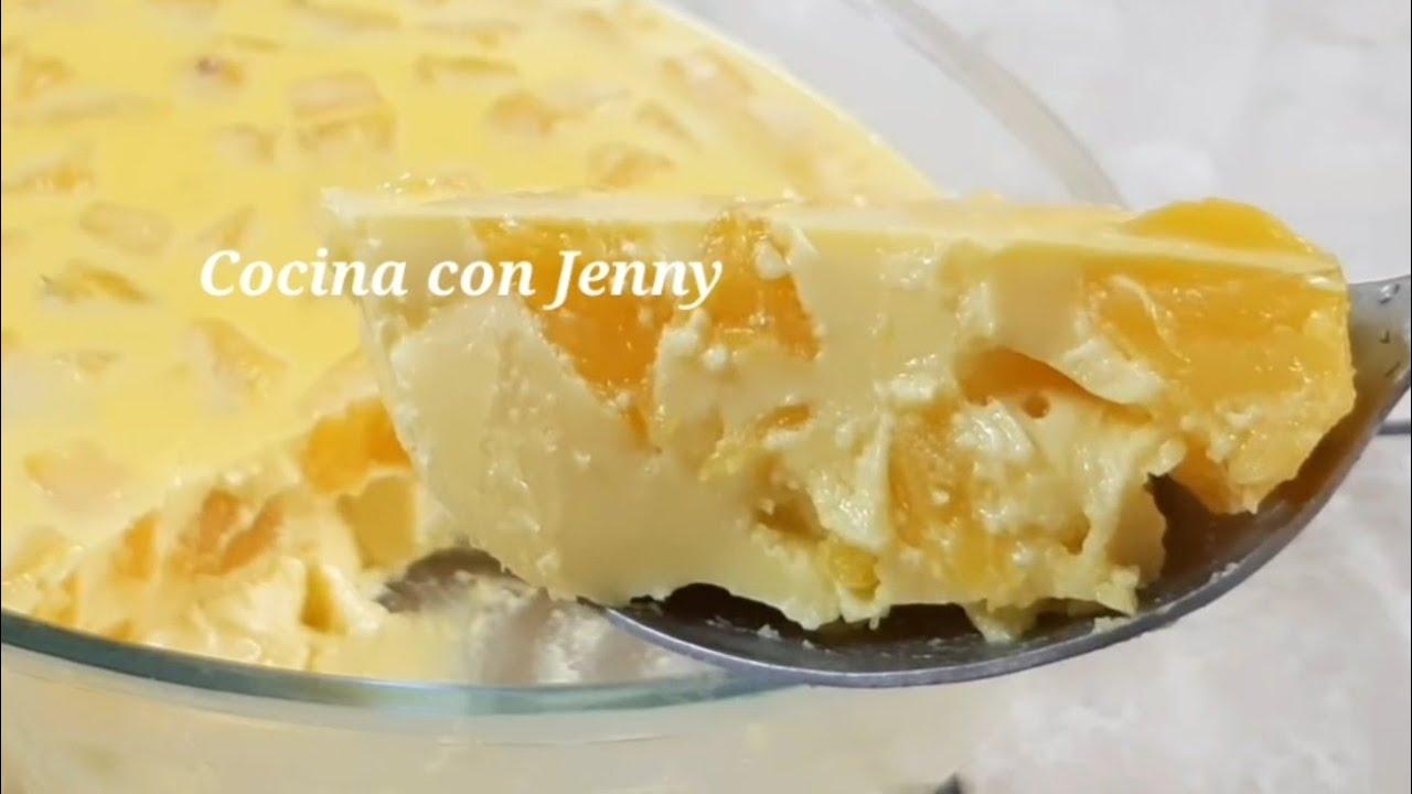 Si tienes Piña 🍍 Natural o en Lata prepara este delicioso Postre - 2 Opciones /Cocina con Jenny