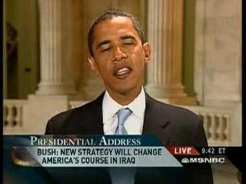 Barack Obama: Response to Bush Speech 1/10/2007