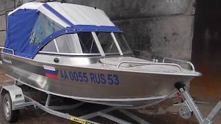 Обзор ходового тента для лодки Windboat-45ME