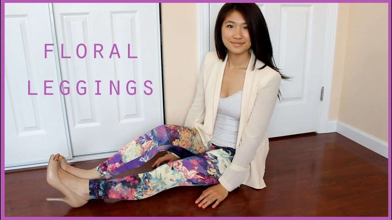 How to Style Floral Leggings