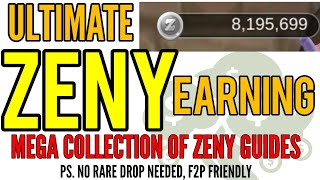 Ultimate Zeny Earning Guide! Get tons of zeny fast with my collection of Zeny making guides!