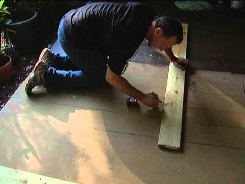 Stain concrete porch to look like wood EASY YouTube