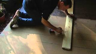 Stain Concrete Porch To Look Like Wood. Easy!