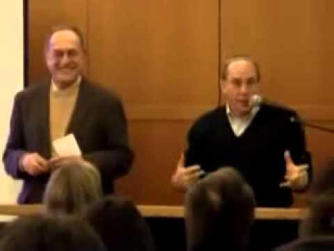 Alan Dershowitz / Steven Pinker Latke-Hamentaschen Debate (Harvard Hillel)
