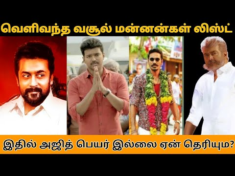 Top Tamil Actor in 2018 Earnings | Suriya | Vijay |Ajith | Rajinikanth