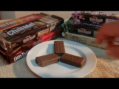 ASMR - Tim Tams - Australian Accent - Chewing Gum & Discussing Tim Tam Biscuits In A Quiet Whisper