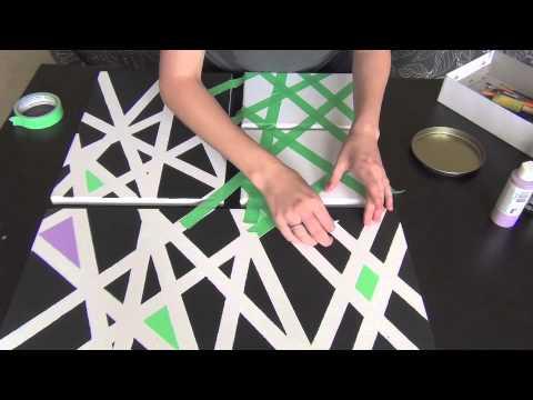 DIY Painted Wall Art - YouTube