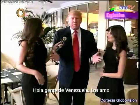Donald Trump saluda a la gente de Venezuela Sábado en la Noche 24 ...