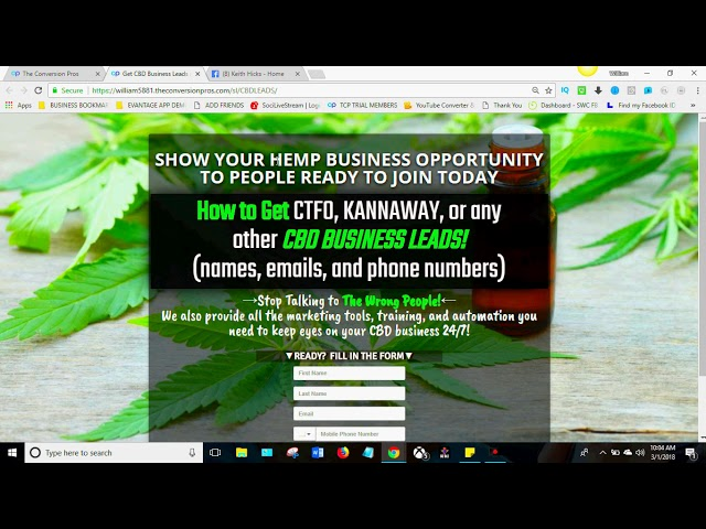 How to Increase your CBD Oil Sales using The Conversion Pros!  CBD Oil, HempWorx, CTFO, Canibus Oil