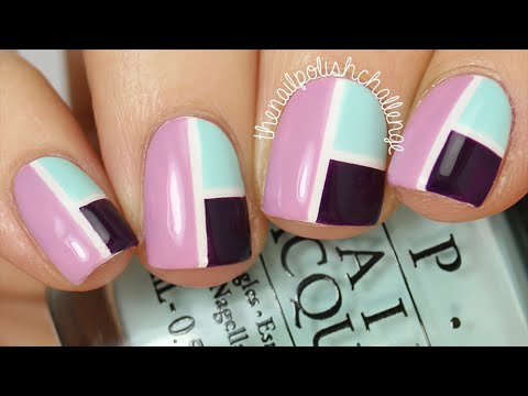 Easy Color Blocking Nail Art Tutorial (using tape only!) || THE NAIL POLISH CHALLENGE