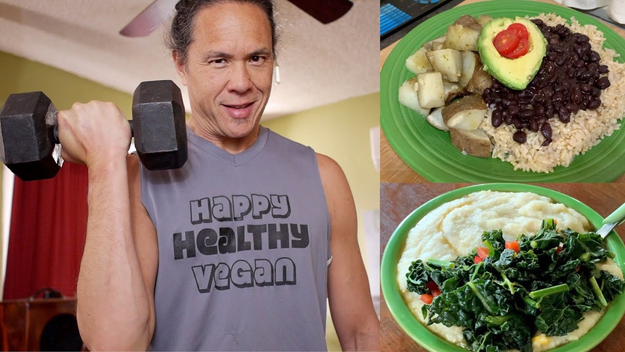 How A 9 Year Vegan Ate & Trained In A Day in #stayhome Quarantine. Oil Free Eating