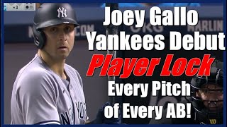 Joey Gallo Yankees Debut Player Lock. Every Pitch Of Every AB.  Yankees vs Marlins 7/30/21