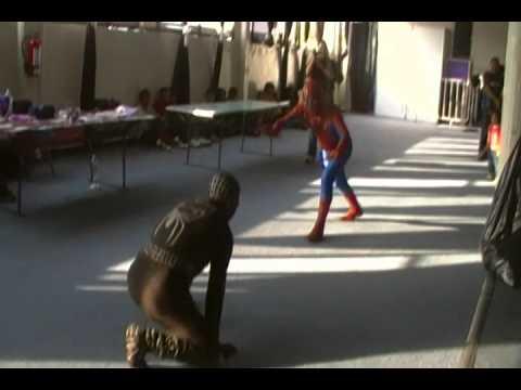 hombre araña vs hombre araña negro - YouTube