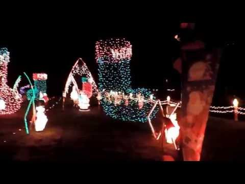 Christmas Light Display at Faucher House in Bear, Delaware 2014