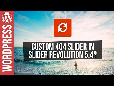 Custom 404 Pages with Slider Revolution 5.4 for WordPress - 동영상