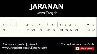 not angka jaranan - lagu daerah tradisional nusantara indonesia - solmisasi