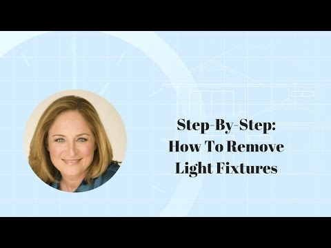 step by step how to remove light fixtures youtube. Black Bedroom Furniture Sets. Home Design Ideas