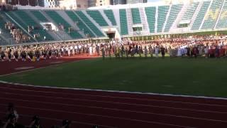 บรรเลงเพลงสรรเสริญพระบารมี รับเสด็จ งานชุมนุมลูกเสือ 2557