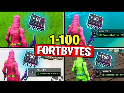 *SECRET METHOD* TO COLLECT (1-100) FORTBYTES - FORTNITE FORTBYTE 1 TO FORTBYTE 100 FOUND!